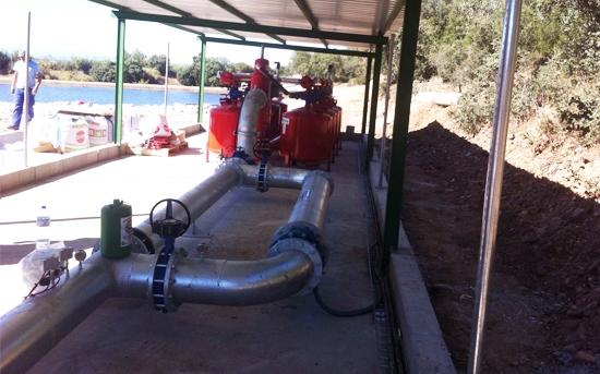 Construcción de balsa de riego y caseta de control para olivar superintensivo en Talavera de la Reina