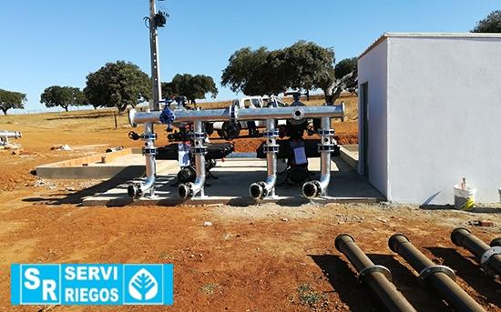 Casa de filtragem de olival superintensivo do Monte do Trigo (Portugal)
