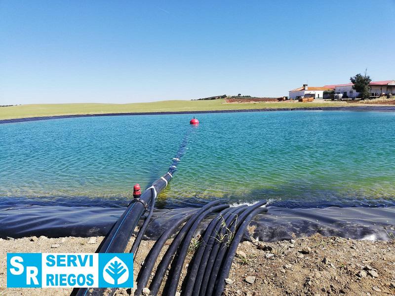 Instalación de riego por goteo para 25 Ha de almendro y 53 Ha de olivo en Campomayor (Portugal).