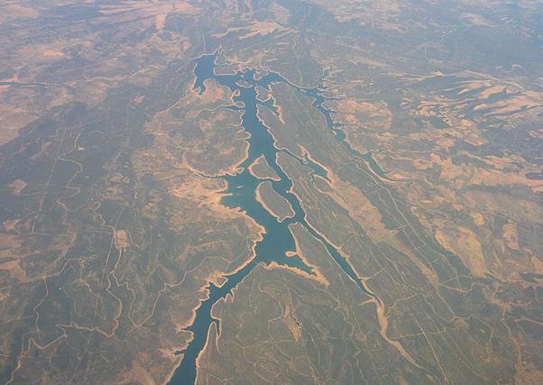 Situación de los embalses de la cuenca del Guadiana.