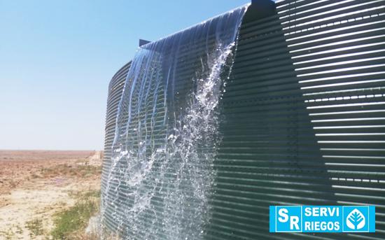 Serviriegos. Tanque de armazenamento de água para irrigação. Alvito.