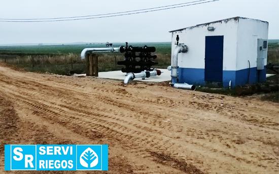 Instalación de riego en Caldeiras.